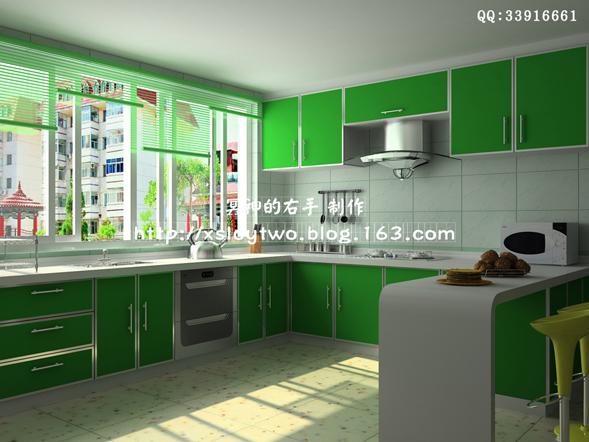 厨房装修效果图-客厅卧室衣柜厨房卫生间装饰装潢