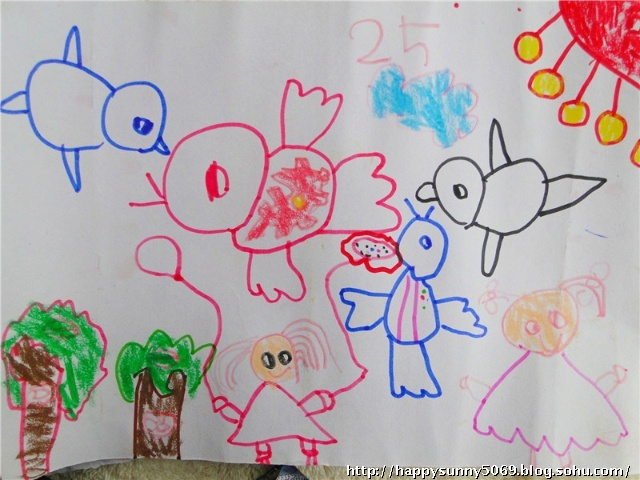 看了妞子美术班的期末评语:&图片