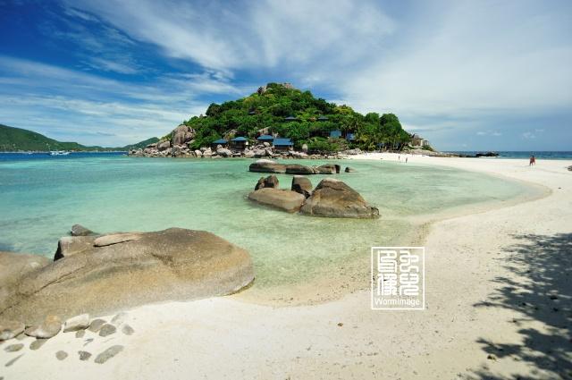 龟岛koh tao, 一, 南园岛 以及西立海滩