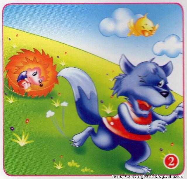 逃跑的大灰狼简笔画