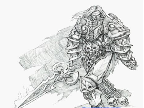 魔兽世界人物原画