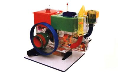 拖拉机教学模型