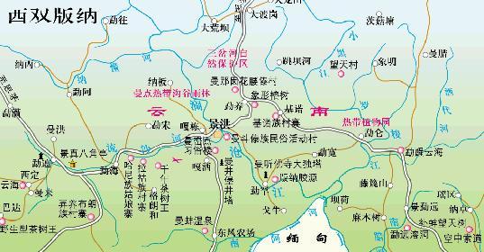 西双版纳旅游地图