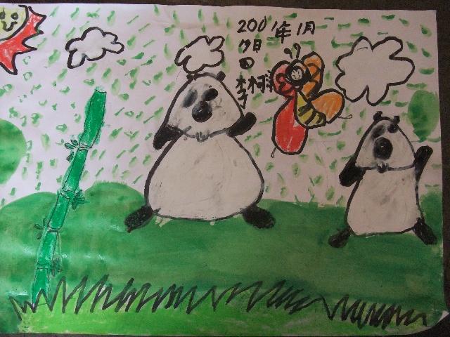 小熊猫大群简笔画内容图片展示