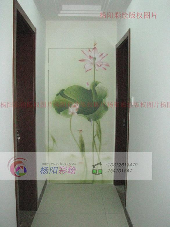 苏州手绘墙(墙面壁画)-香城花园走廊尽头隐形门墙绘
