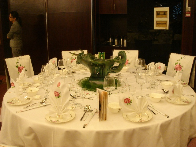 技能中式餐桌摆台图片