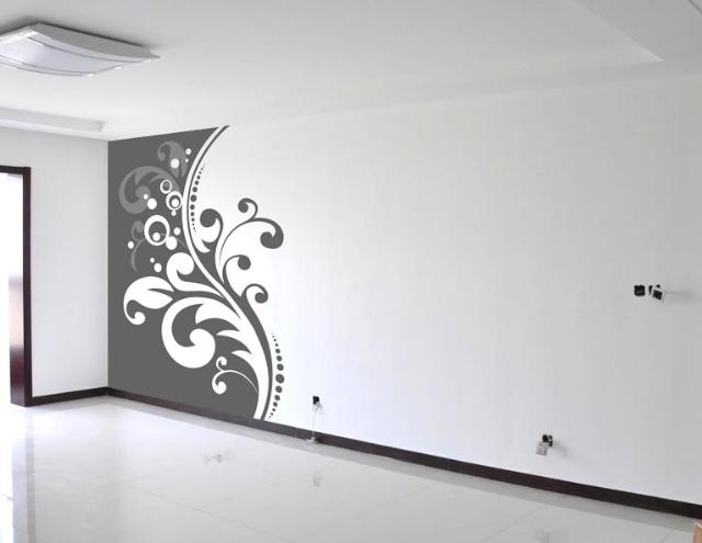 客厅手绘墙画的选择