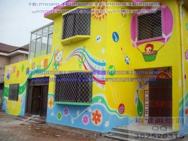 幼儿园外墙装饰_幼儿园的外墙装饰(环境布置3)-幼儿园装饰彩绘墙壁画-搜狐博客
