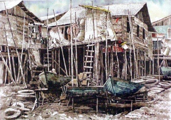 青岛崂山钢笔画