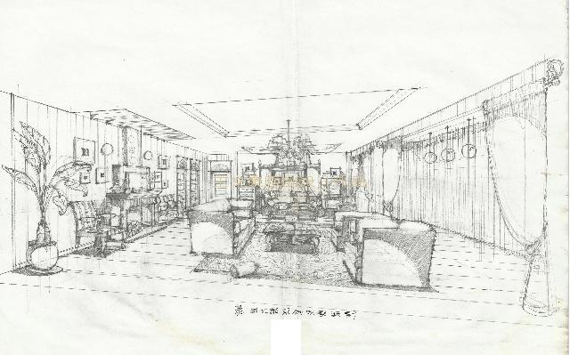 别墅设计图,全部手绘