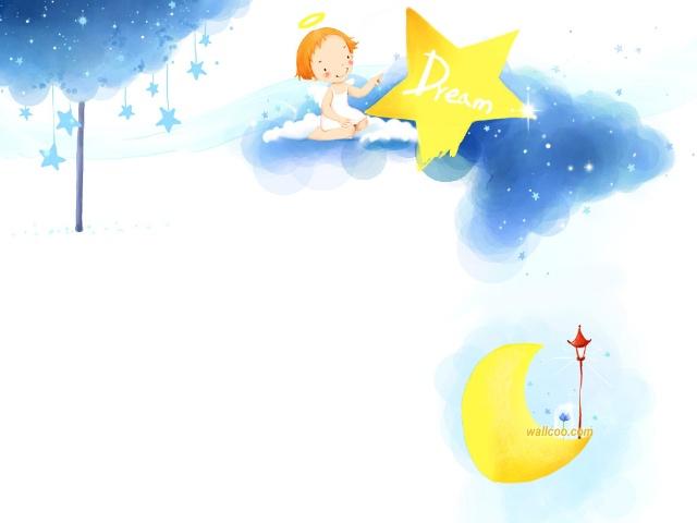 月亮和星星见面了