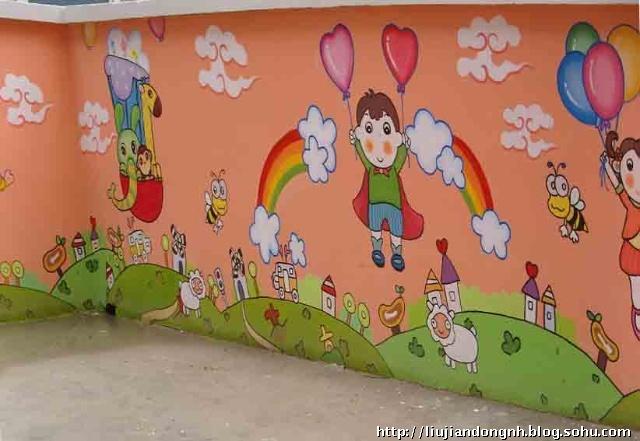 什么样的题材适合在幼儿园内可以绘画壁画的图案图片
