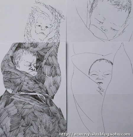 我的速写创作(25)《宝宝速写》八幅