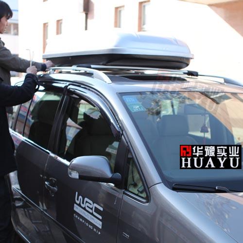 大众途安安装车顶行李箱 车载行李箱实拍
