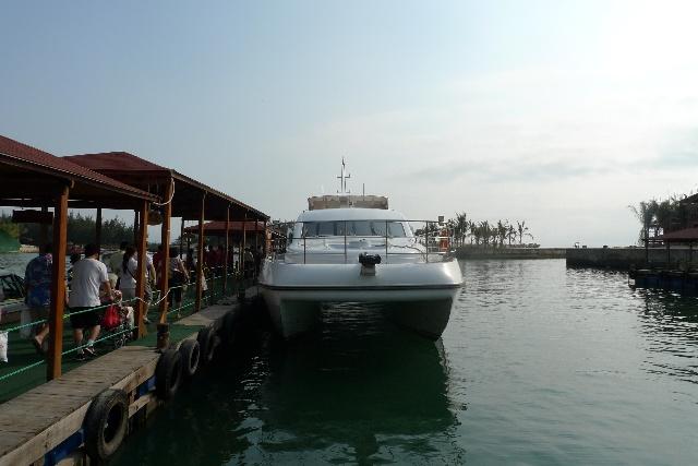 分界洲侯船厅,游客从这登船去分界洲岛
