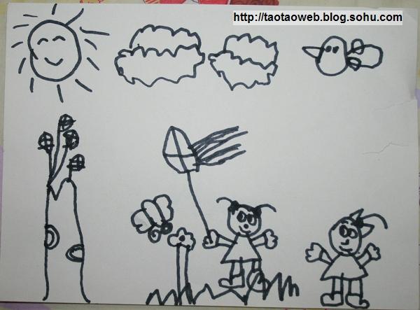 儿童画 简笔画 手绘 线稿 600_443