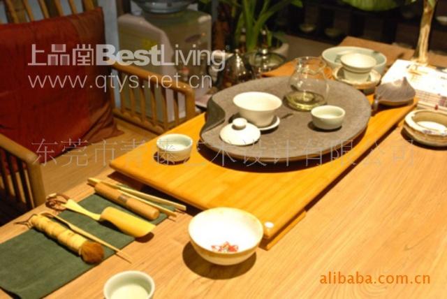 创意的实木茶家具,手工精细的茶具,精工细做的日本铁壶,口感纯香的
