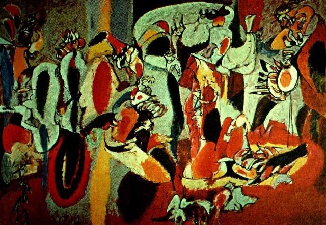西方现代抽象画大师-西方现代绘画欣赏之九 美国的欧洲梦 抽象表现主义