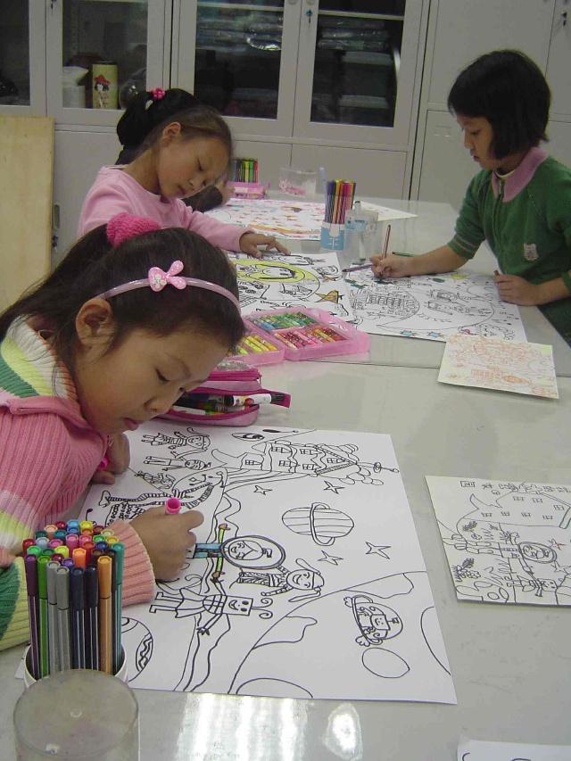 作品欣赏---北京市科幻画大赛——我的太空家园(二,三,六年级)图片