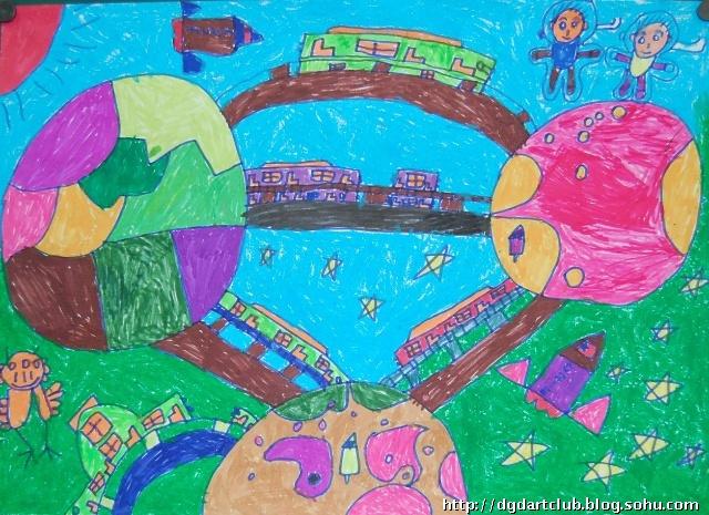 作品欣赏----北京市科幻画大赛——我的太空家园