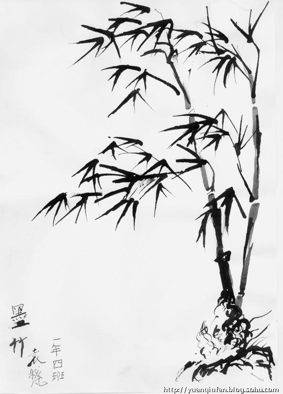 就喜欢用钢笔画竹子