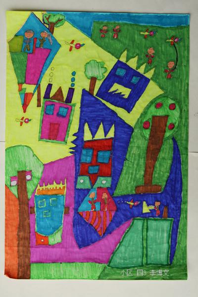 六一儿童刮画作品_油画棒荷花画图片_油画棒荷花画图片下载