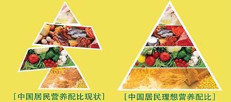 """""""中国居民营养膳食宝塔""""推荐每天应食用谷"""